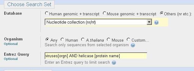 Choose Search Set demonstration
