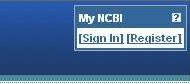 My NCBI sign in box